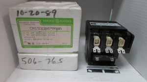 GE Contactor CR153GB079AWA 3Pole 75Amp 240V COIL PN 506765