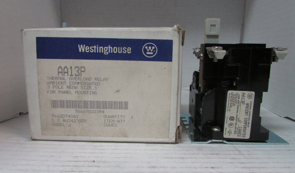 Relay Westinghouse AA13P 600 VAC MAX