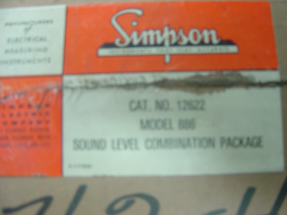 Simpson 886 Sound Level Meter and 890 Calibrator