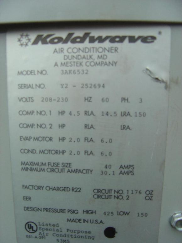 KOLDWAVE 5-Ton Air cooled Portable Unit # 3AK6532