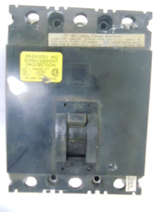 SQUARE D CIRCUIT BREAKER MODEL:FAL34000 100AMP 480V 3POLE