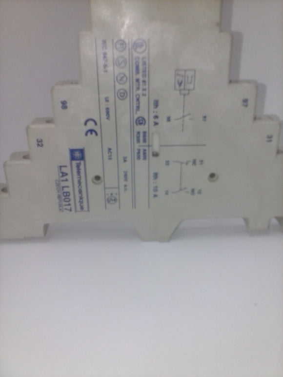 TELEMECANIQUE AUXILIARY BLOCK CONTACTS MODEL:LA1 LB017 10AMP