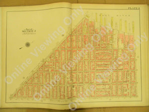 Plate 3 of 1908 Vintage Map Brooklyn - Hamilton Ave - Carroll Street - East River +++