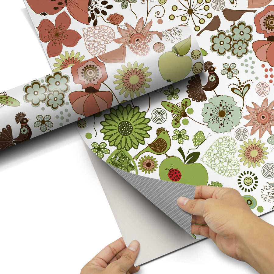 Dekorfolie Flower Pattern - Do-it-yourself - creatisto