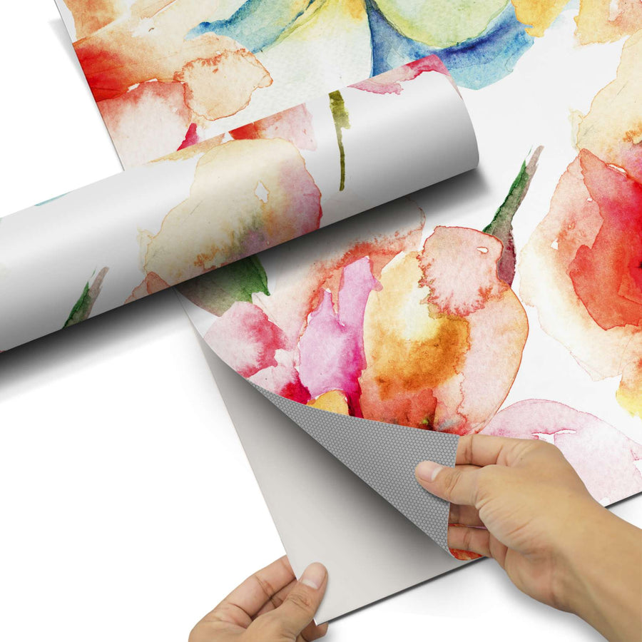 Dekorfolie Water Color Flowers - Do-it-yourself - creatisto