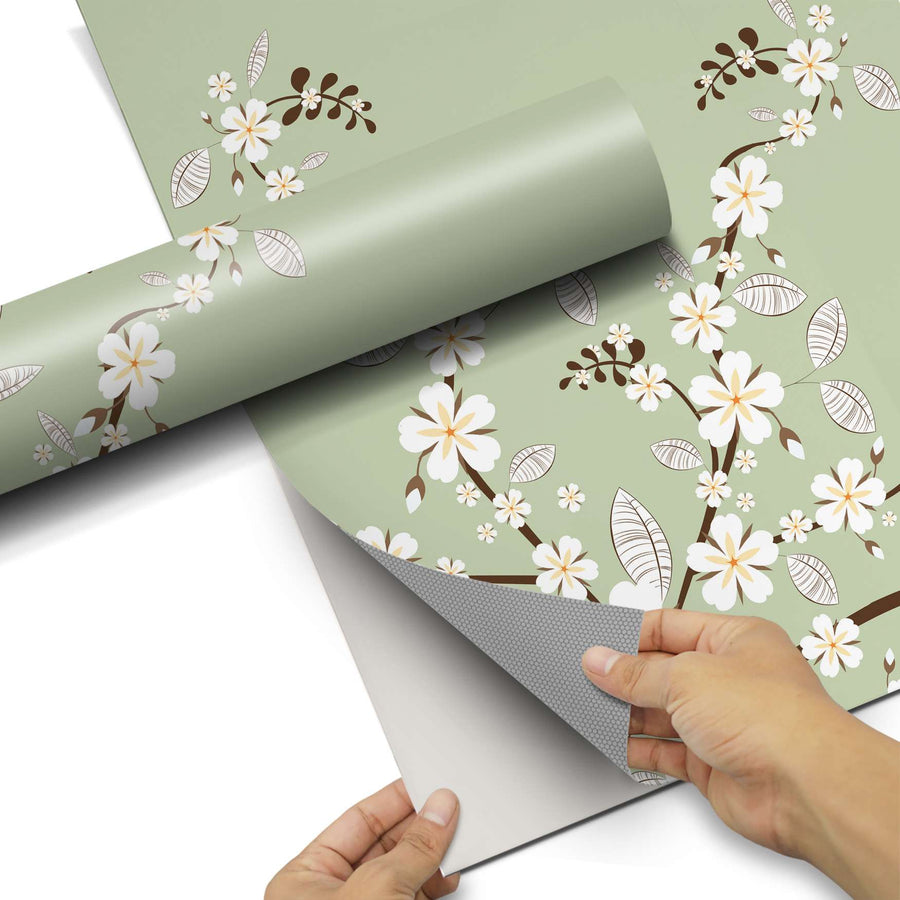 Dekorfolie White Blossoms - Do-it-yourself - creatisto