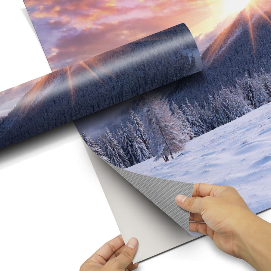 Dekorfolie Zauberhafte Winterlandschaft - Do-it-yourself - creatisto