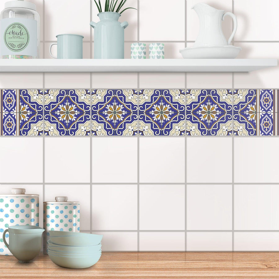 Fliesenaufkleber Bordüre - Arabic Tiles