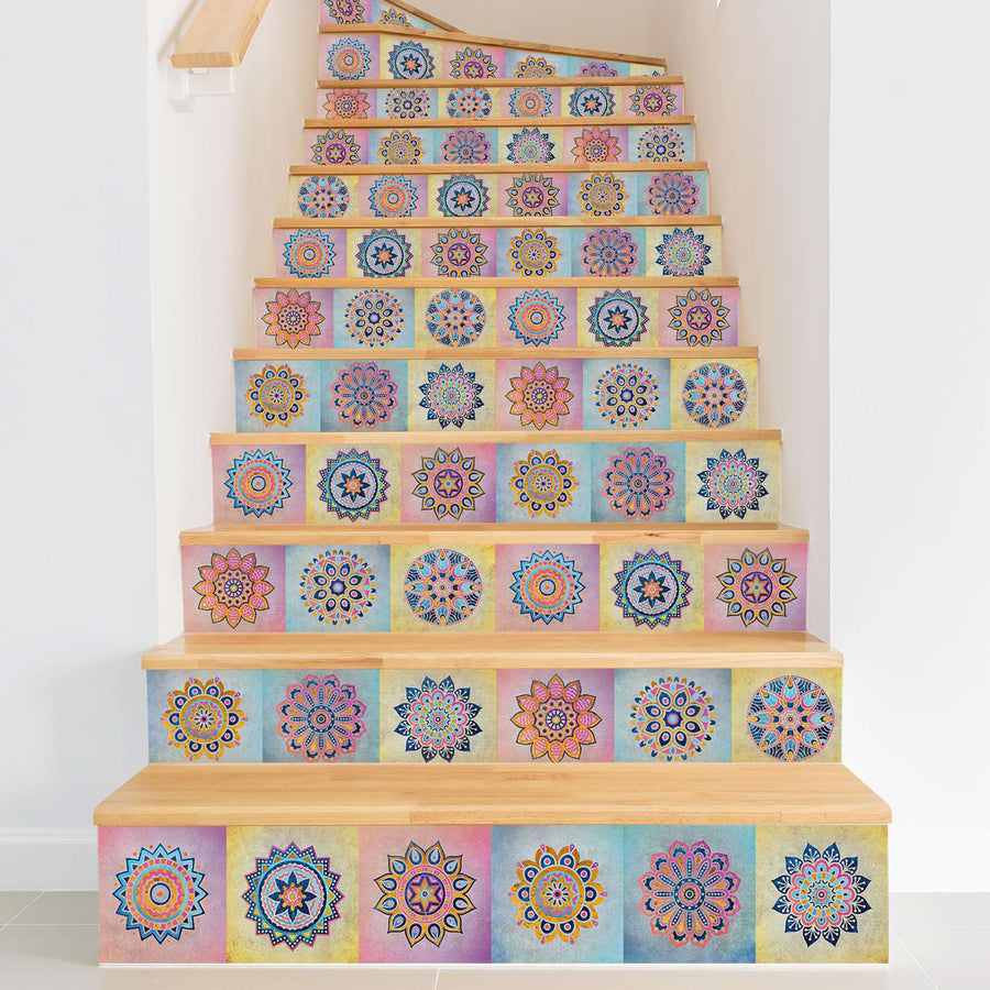 Fliesenaufkleber Treppe - Indian Tiles