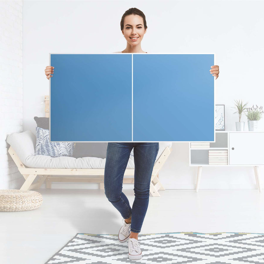 Folie für Möbel Blau Light - IKEA Besta Regal Quer 2 Türen - Folie