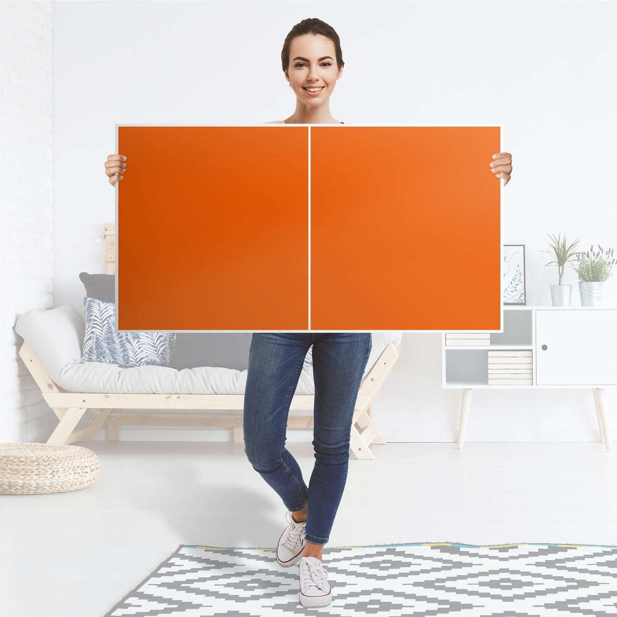Folie für Möbel Orange Dark - IKEA Besta Regal Quer 2 Türen - Folie