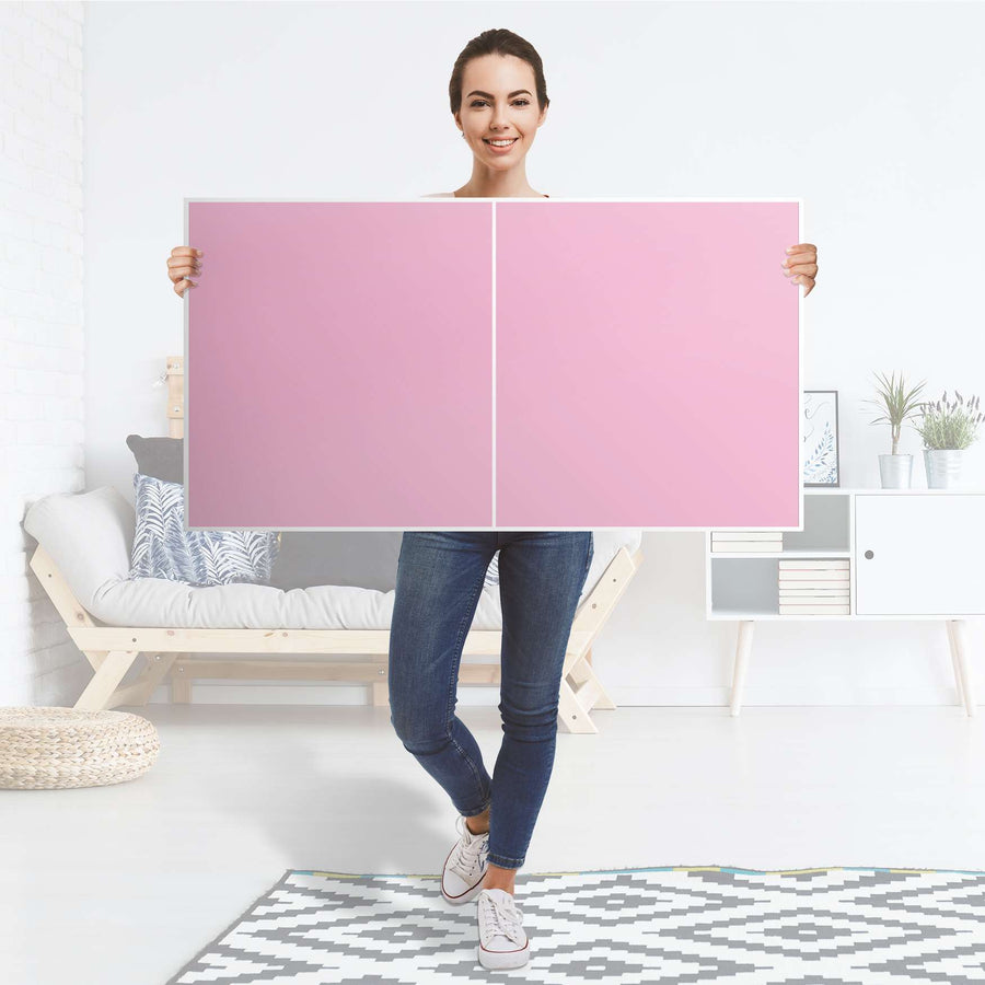 Folie für Möbel Pink Light - IKEA Besta Regal Quer 2 Türen - Folie
