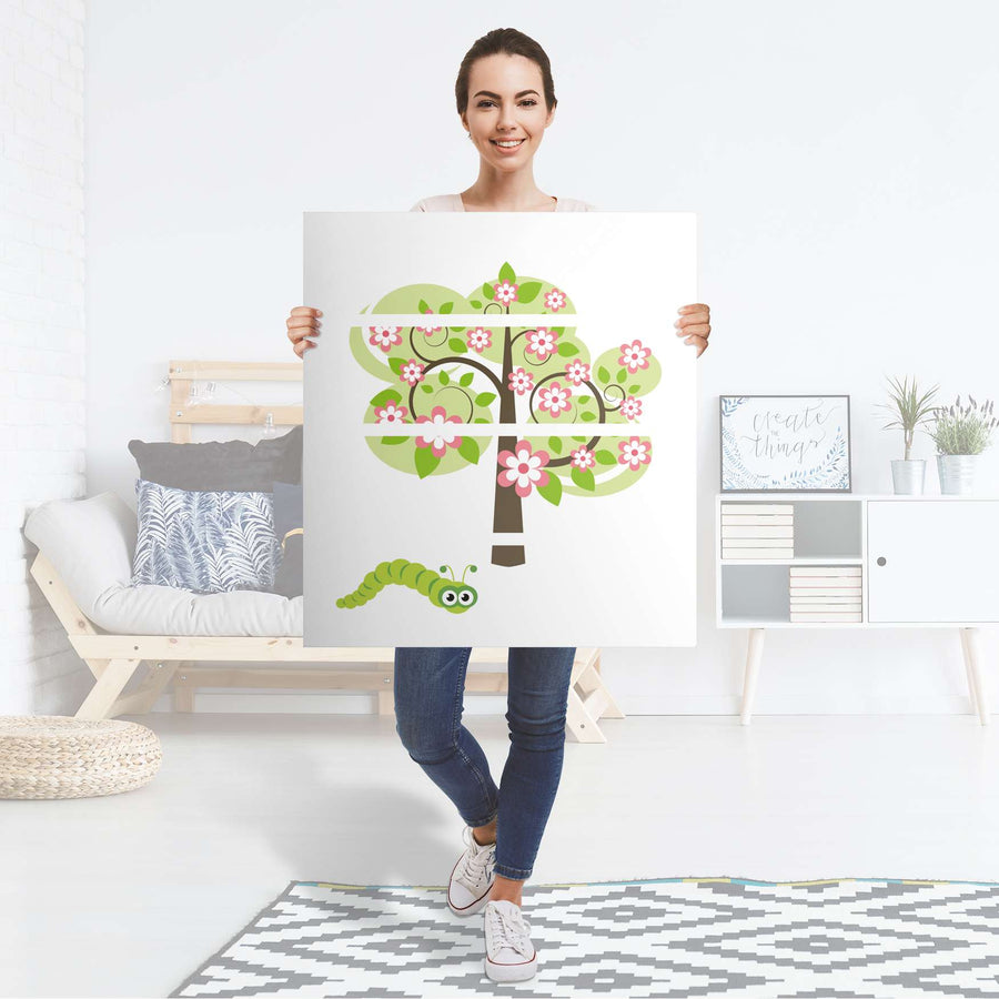 Folie für Möbel Blooming Tree - IKEA Malm Kommode 4 Schubladen - Folie