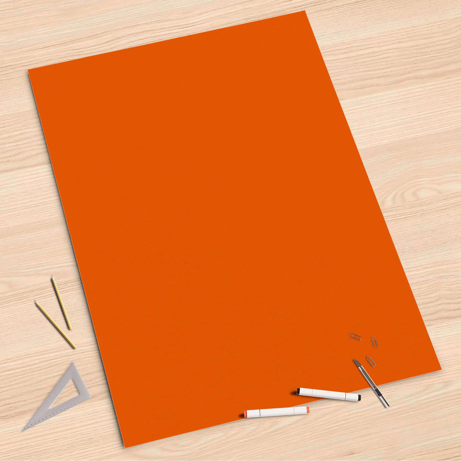 Folienbogen Orange Dark - 80x120 cm