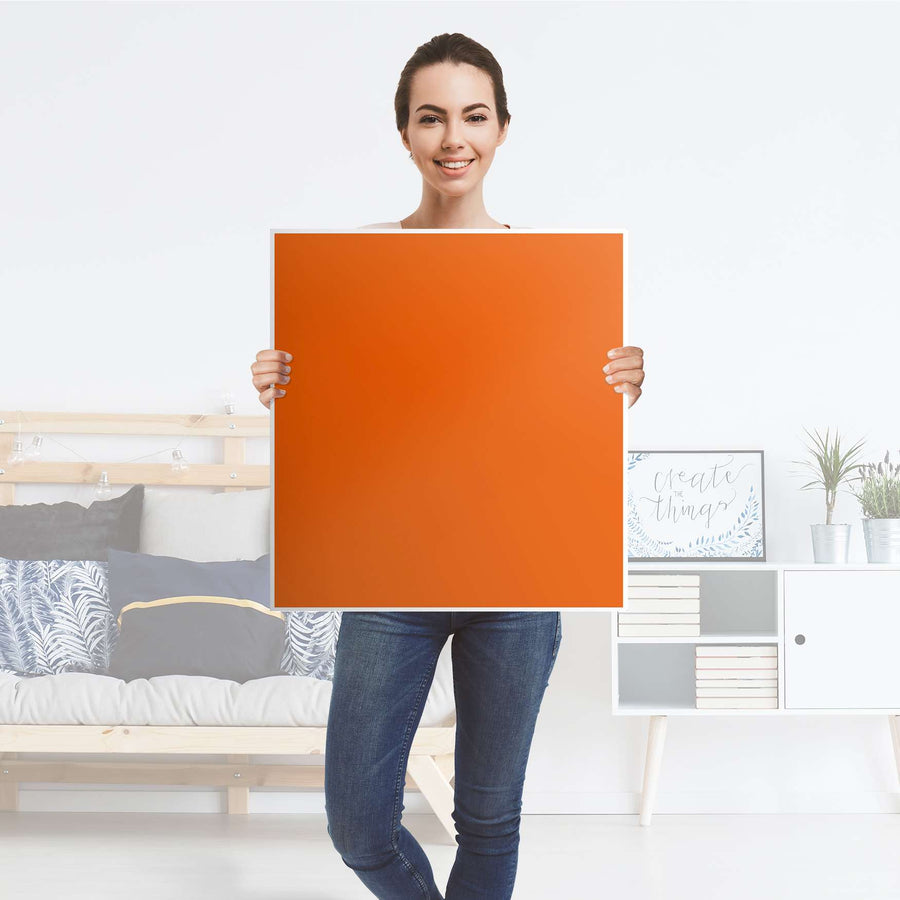 Klebefolie für Möbel Orange Dark - IKEA Besta Regal 1 Türe - Folie