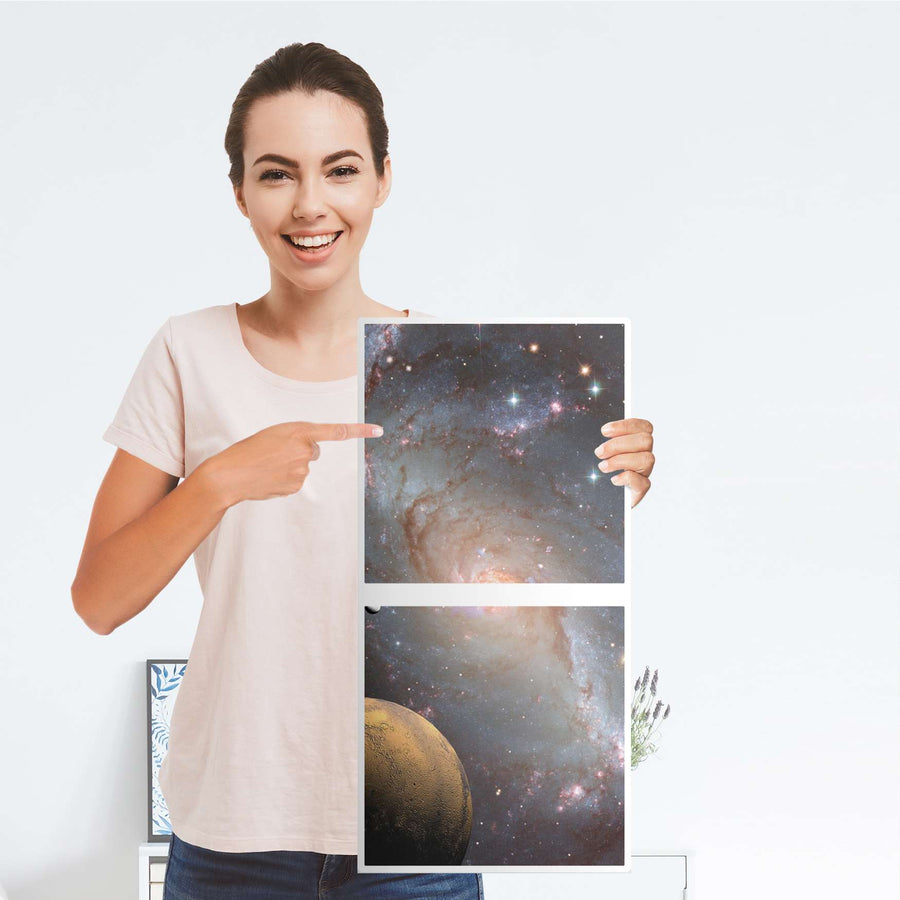Klebefolie für Möbel Milky Way - IKEA Expedit Regal 2 Türen Hoch - Folie