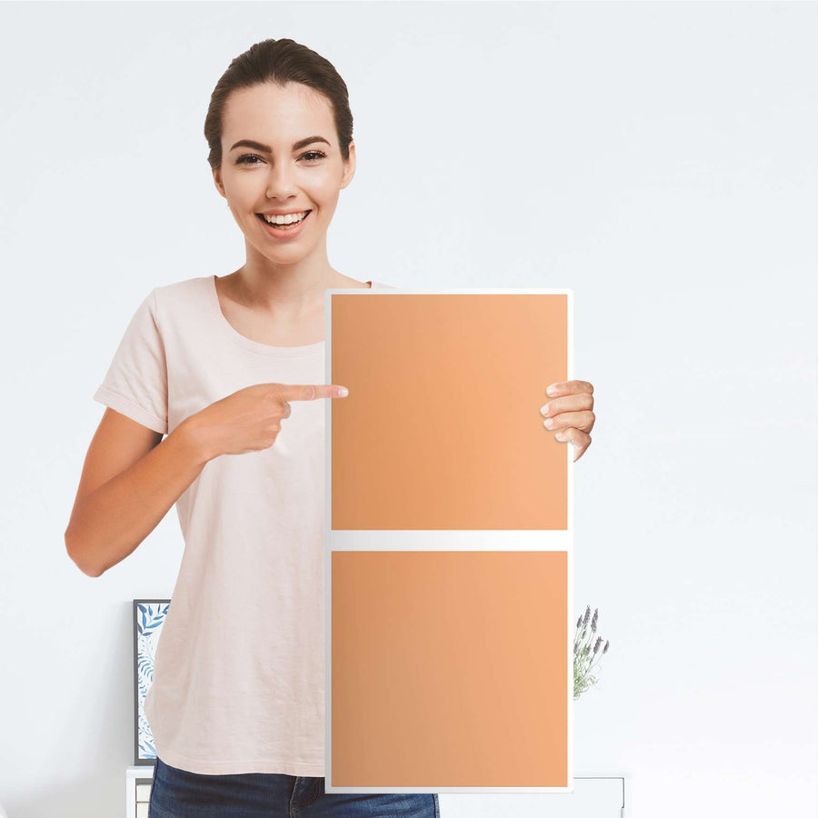 Klebefolie für Möbel Orange Light - IKEA Expedit Regal 2 Türen Hoch - Folie