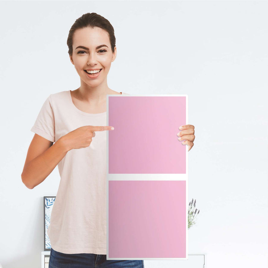 Klebefolie für Möbel Pink Light - IKEA Expedit Regal 2 Türen Hoch - Folie
