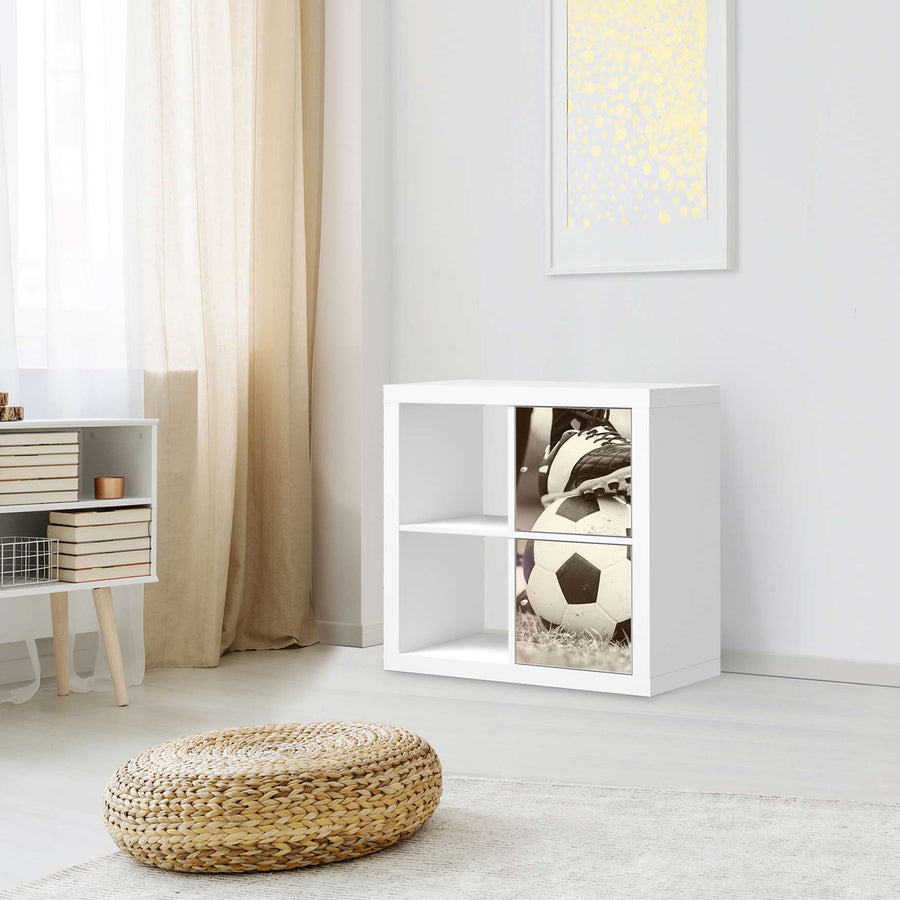 Klebefolie für Möbel Kick it - IKEA Expedit Regal 2 Türen Hoch - Kinderzimmer