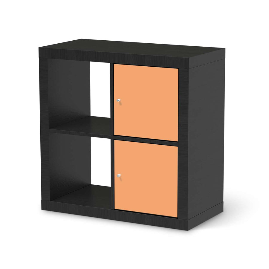 Klebefolie für Möbel Orange Light - IKEA Expedit Regal 2 Türen Hoch - schwarz