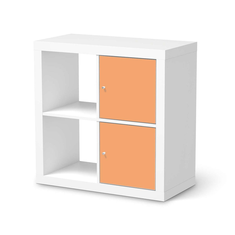 Klebefolie für Möbel Orange Light - IKEA Expedit Regal 2 Türen Hoch  - weiss