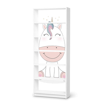 Klebefolie Baby Unicorn - IKEA Billy Regal 6 Fächer - weiss