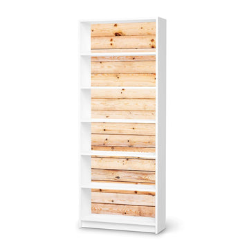 Klebefolie Bright Planks - IKEA Billy Regal 6 Fächer - weiss