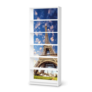Klebefolie La Tour Eiffel - IKEA Billy Regal 6 Fächer - weiss