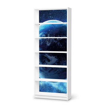 Klebefolie Planet Blue - IKEA Billy Regal 6 Fächer - weiss