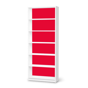 Klebefolie Rot Light - IKEA Billy Regal 6 Fächer - weiss