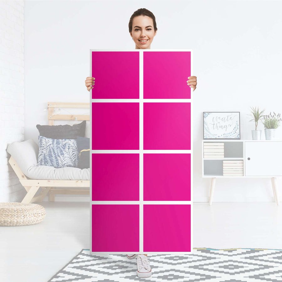 Klebefolie Pink Dark - IKEA Expedit Regal 8 Türen - Folie