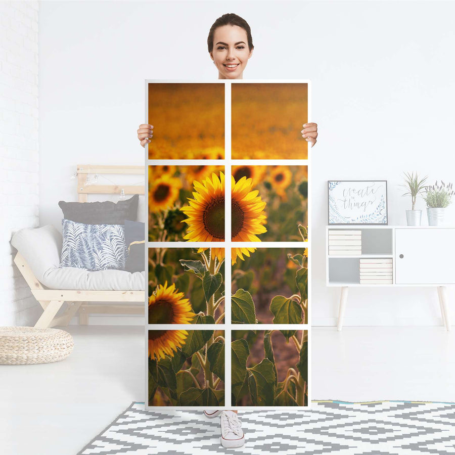Klebefolie Sunflowers - IKEA Expedit Regal 8 Türen - Folie