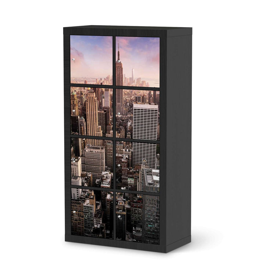 Klebefolie Big Apple - IKEA Expedit Regal 8 Türen - schwarz
