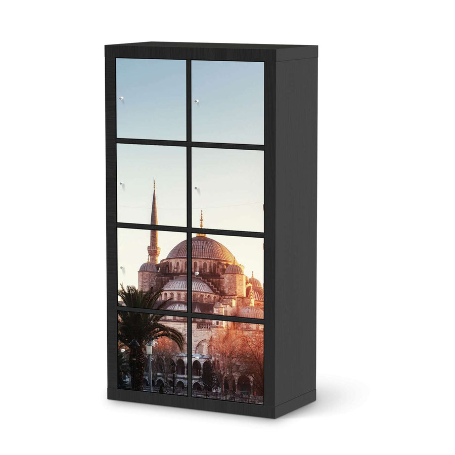 Klebefolie Blue Mosque - IKEA Expedit Regal 8 Türen - schwarz
