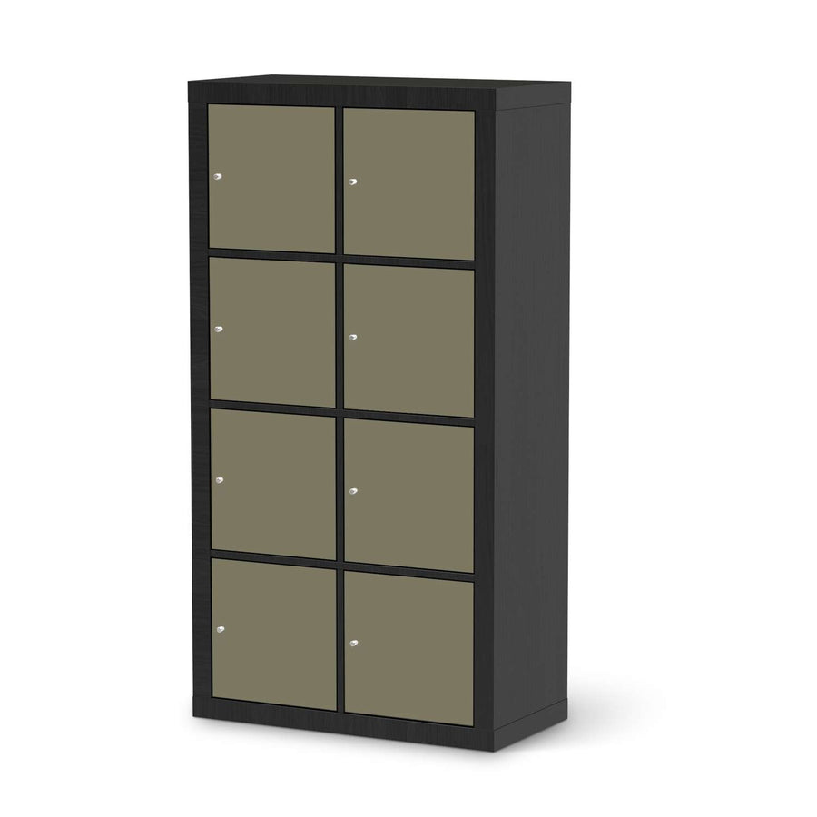Klebefolie Braungrau Light - IKEA Expedit Regal 8 Türen - schwarz