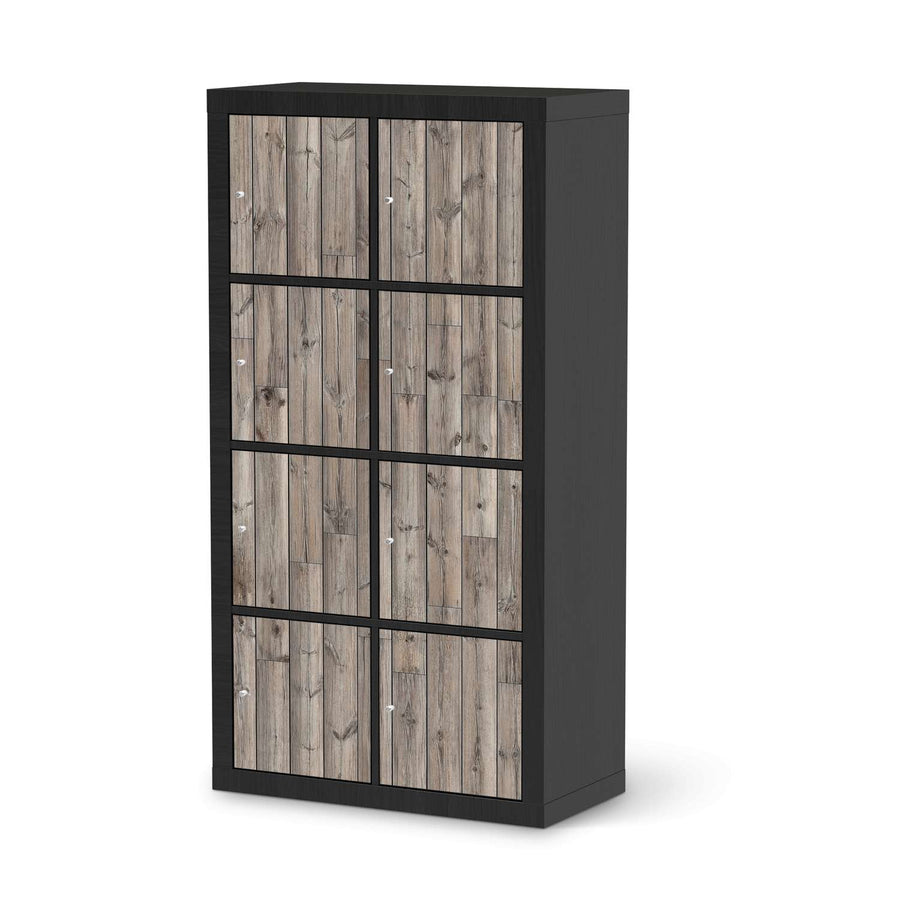 Klebefolie Dark washed - IKEA Expedit Regal 8 Türen - schwarz