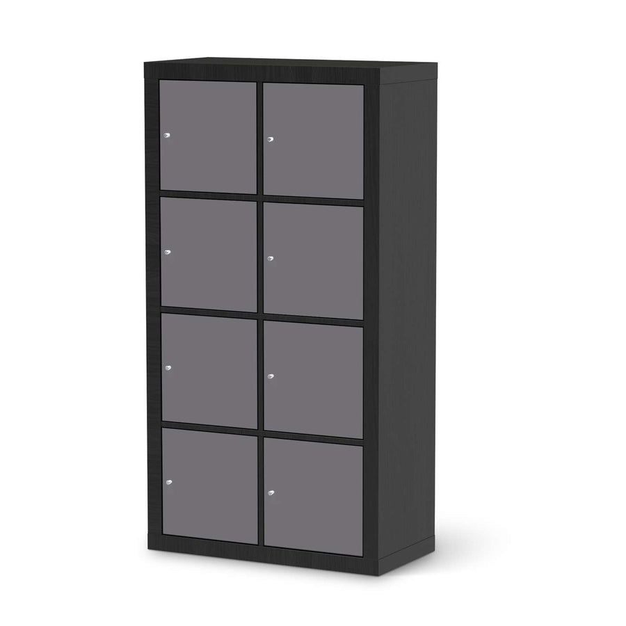 Klebefolie Grau Light - IKEA Expedit Regal 8 Türen - schwarz