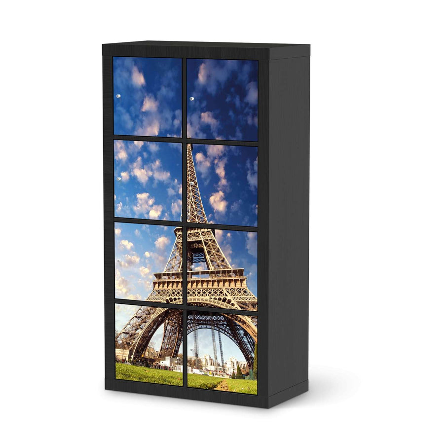 Klebefolie La Tour Eiffel - IKEA Expedit Regal 8 Türen - schwarz