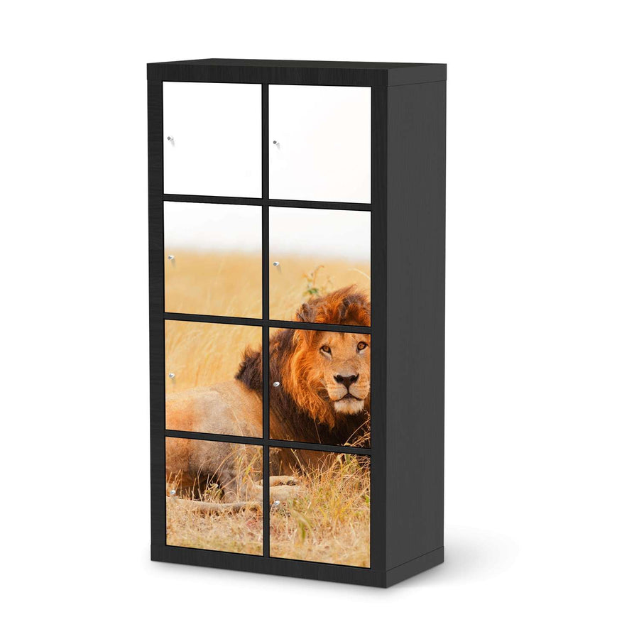 Klebefolie Lion King - IKEA Expedit Regal 8 Türen - schwarz