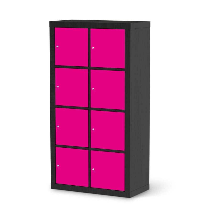 Klebefolie Pink Dark - IKEA Expedit Regal 8 Türen - schwarz