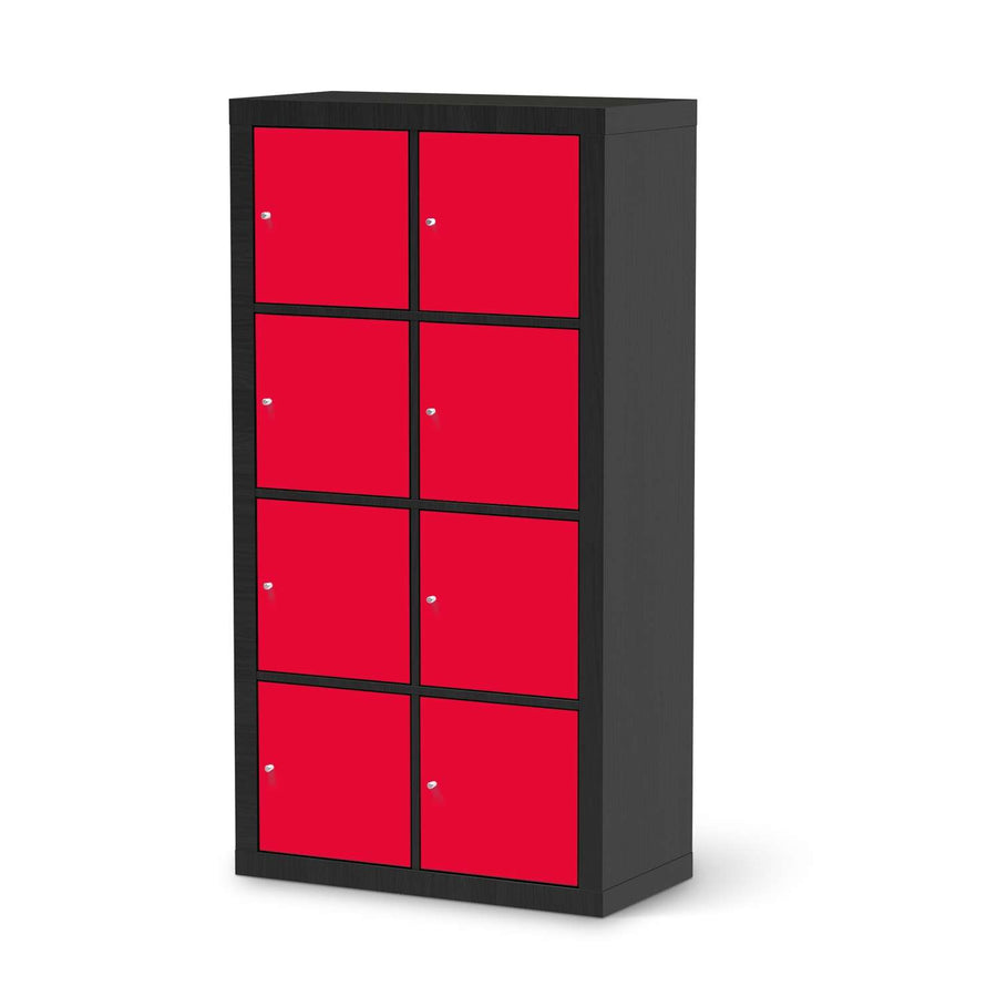 Klebefolie Rot Light - IKEA Expedit Regal 8 Türen - schwarz