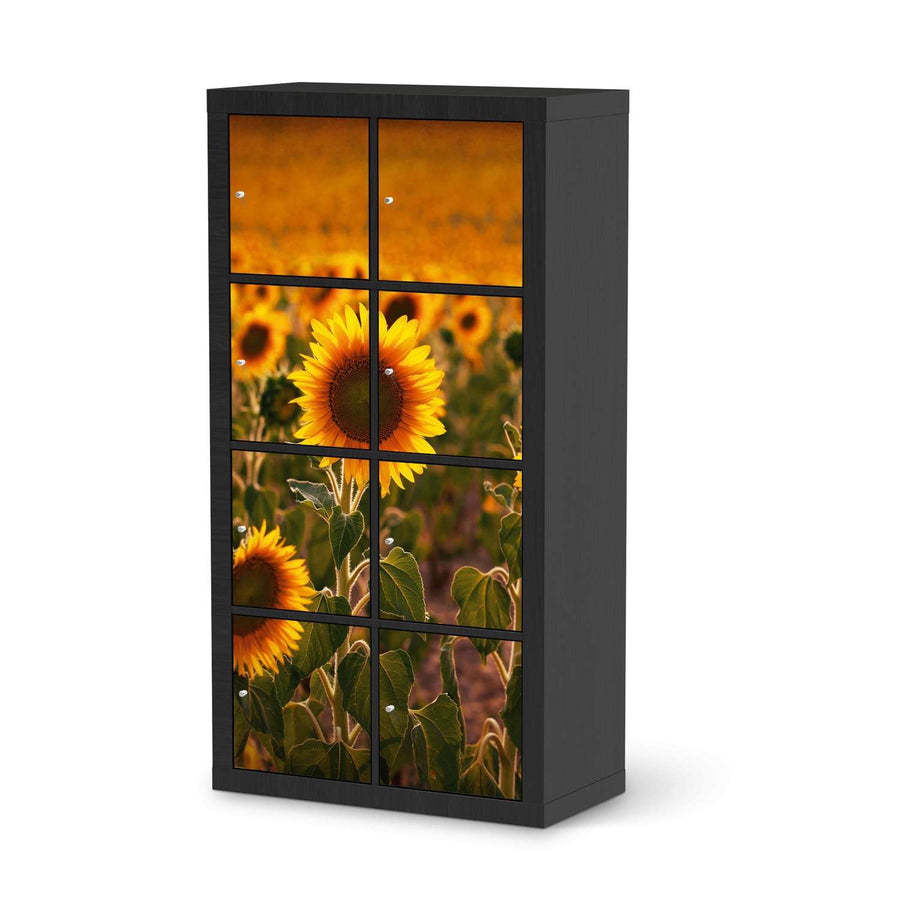 Klebefolie Sunflowers - IKEA Expedit Regal 8 Türen - schwarz