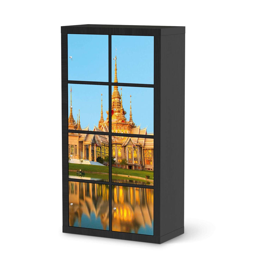 Klebefolie Thailand Temple - IKEA Expedit Regal 8 Türen - schwarz