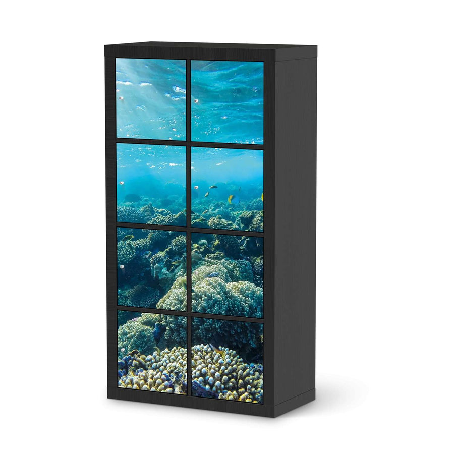 Klebefolie Underwater World - IKEA Expedit Regal 8 Türen - schwarz