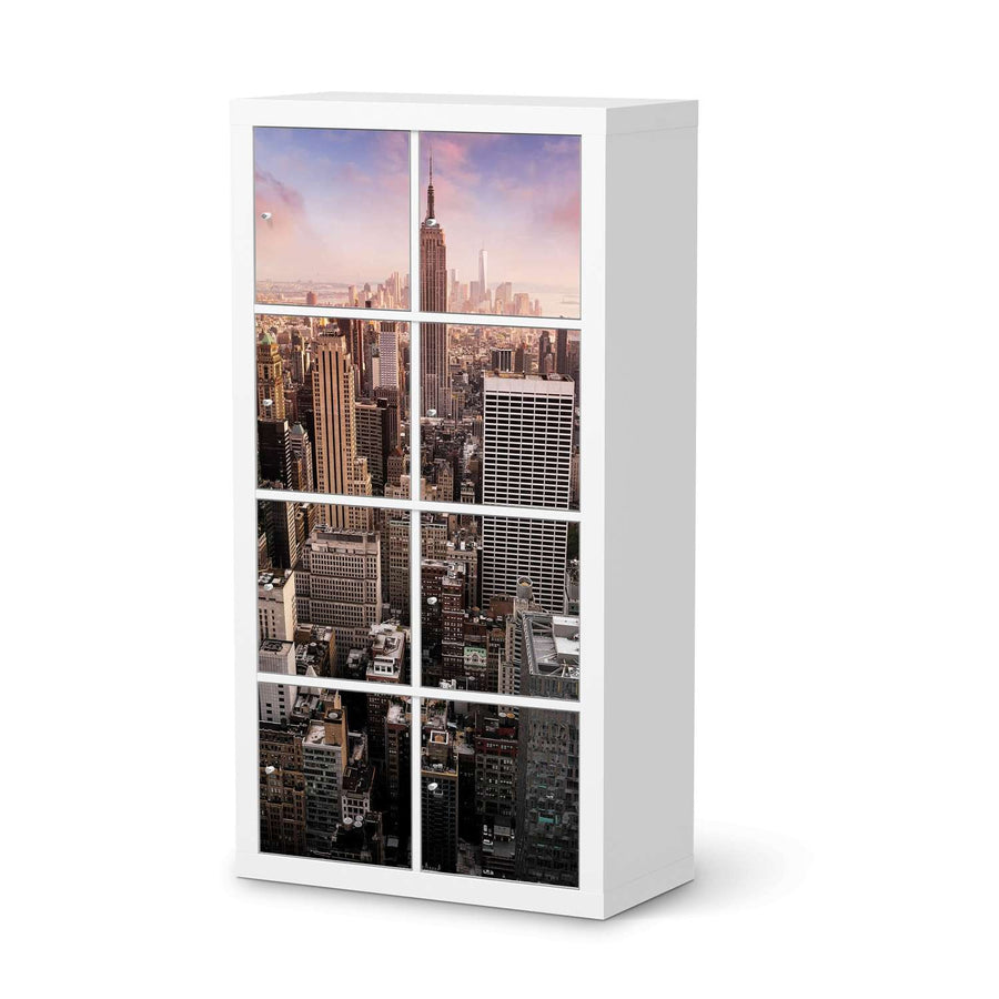 Klebefolie Big Apple - IKEA Expedit Regal 8 Türen  - weiss