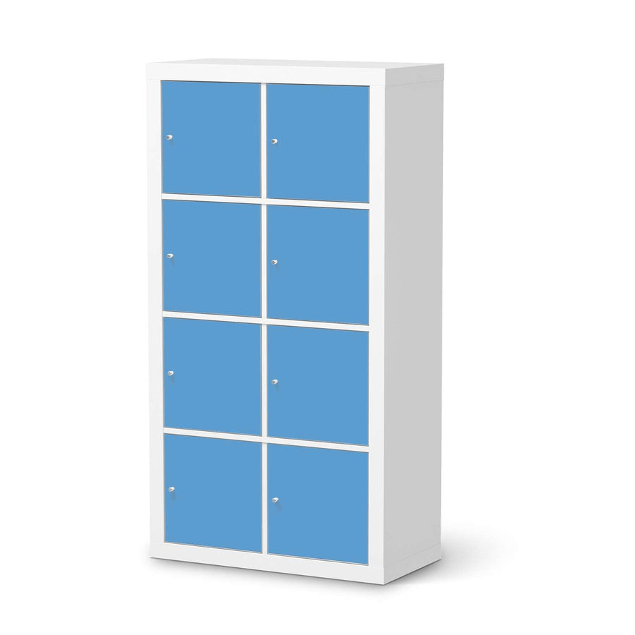 Klebefolie Blau Light - IKEA Expedit Regal 8 Türen  - weiss