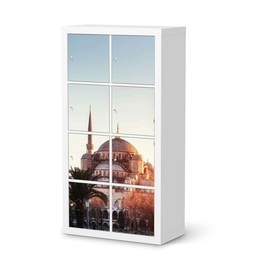 Klebefolie Blue Mosque - IKEA Expedit Regal 8 Türen  - weiss