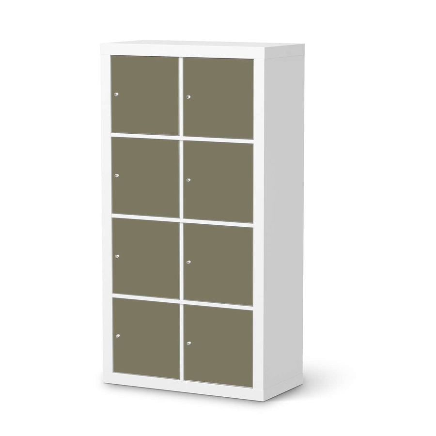 Klebefolie Braungrau Light - IKEA Expedit Regal 8 Türen  - weiss