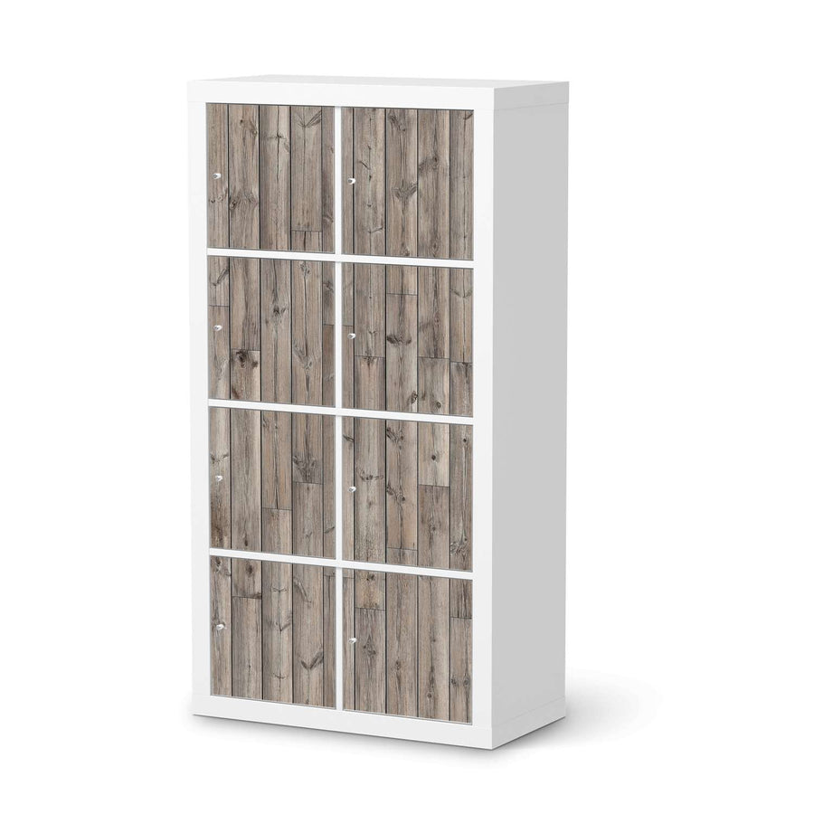 Klebefolie Dark washed - IKEA Expedit Regal 8 Türen  - weiss