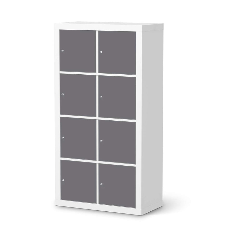 Klebefolie Grau Light - IKEA Expedit Regal 8 Türen  - weiss